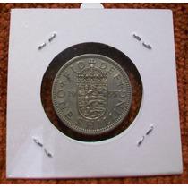 Moneda De Gran Bretaña - 1 Shilling De 1955