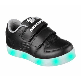 Tenis Skechers Energy Lights Luces Led Negro 13-16 Original