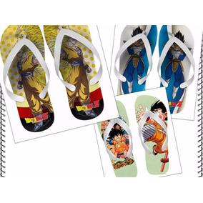 Kit 12 Pares De Chinelos Sandálias Dragon Ball Z Oferta