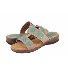 Sandalias Dama Chocolate Cuero Taco 4cm Zapatos