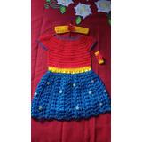 Vestido Mulher Maravilha Infantil De Crochê Instagram Blog