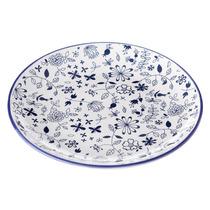 Plato Llano Para Postre Azul Stoneware 20 Cm