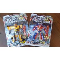 Kit 2 Transformers Bumblebee E Optimus Prime - Frete Grátis