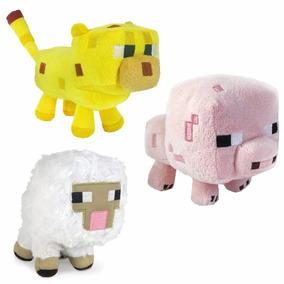 Minecraft Peluches Cerdo Oveja Ocelote Originales Bunny Toys