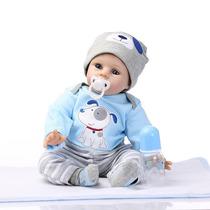 Bebê Reborn Boneco Silicone 55 Cm Aquiles Pronta Entrega