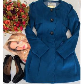 Casaco Vestido Azul La Batida Tam 40