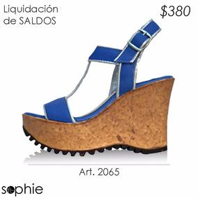 Zapato Sandalia Mujer Taco Chino Corcho Liquidacion