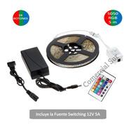 Kit Tira Led Rgb 5050 De 5m Siliconada + Controlador Calidad