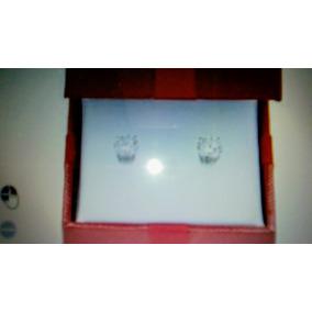Aretes Diamantes Finas, 60 Pts. Oro Blanco 14k. Par Unica!