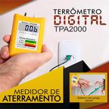 Terrômetro Digital Tpa2000. Não Necessita O Uso De Estacas.