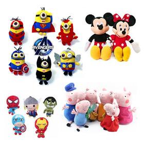 10 Ursos De Pelucia Personagens Minions Peppa Pig Mickey