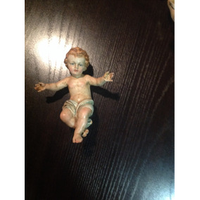 Niño Dios De Madera Antiguo