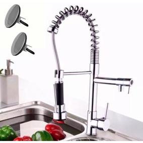 Mezcladora Grifo Cocina Chef Monomando Con Tapones P/ Tarja