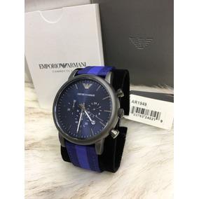 16b6d306a8b Relógio Masculino Emporio Armani Ar1949 Azul Novo Caixa Ea53