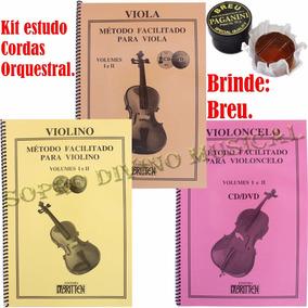 Kit Métodos Violino Viola E Violoncelo Volumes 1 E 2 Brinde