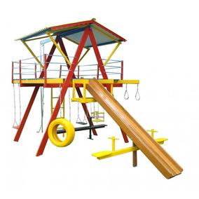 Playground De Madeira Grande - Mundo Da Criança