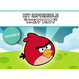 Kit Imprimible Angry Birds Con Candy Bar Mas Regalos Unicos
