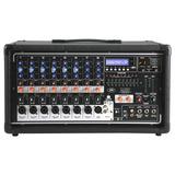 Consola Peavey Mixer Pv 8500 Potenciada 8 Canales Usb Sd Mp3