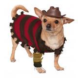Disfraz Para Mascota Freddy Krueger - Halloween