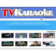Tv Karaoke - 10.000 Músicas Karaoke Online