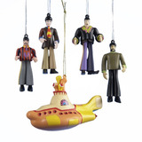 Kurt Adler Yellow Submarine 5-piece Ornament Gift Box Set