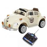 Mini Veículo Fusca 2x1 C. Remoto Som Luzes 6v Buzina 914400