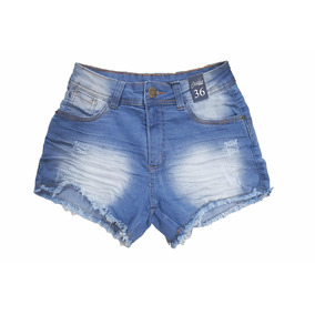 Shorts Jeans Jezzian Barra Desfiada