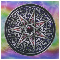 3drose Llc 8 X 8 X 0.25 Inches Mouse Pad, Star Of Fey -rosa