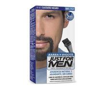 Cubre Canas Just For Men Barba Y Bigote Castaño Negro