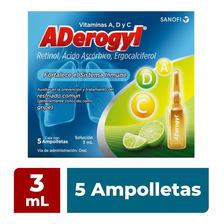 Aderogyl Vitaminas 5 Ampolletas 3ml