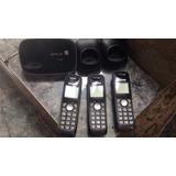 Telefono Panasonic Inalámbrico + 2 Auxiliares