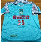 Camisa Palmeiras Liga Rio-sp 2000 Usada Em Jogo Rara
