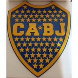 Escudo Boca Campeón En 3d.madera C/66 Estrellas !!original