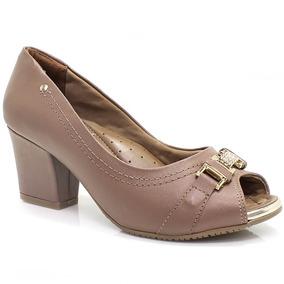 Sapato Comfortflex Peep Toe Conforto (nota Fiscal) | Zariff