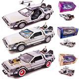 Autos A Escala 1:24 Delorean Volver Al Futuro X3 Welly
