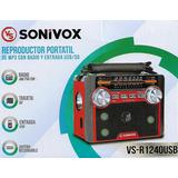 Radio Portatil Sonivox Con Luces Am/fm/sw,mp3,sd,usb