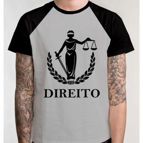 Camiseta Blusa Raglan Camisa Faculdade Direito Curso Promo