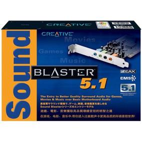 Placa De Som Creative Pci Sound Blaster 5.1 Box Nova