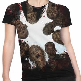 Camiseta Baby Look Zumbis Série The Walking Dead Zumbi