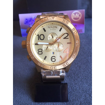 Relogio Nixon 51-30 A083 502 Chrono All Gold 100% Original