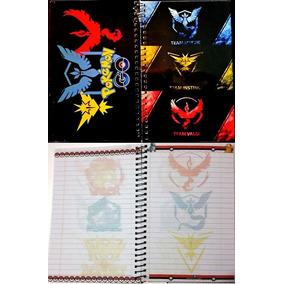 Libreta Pokemon Go Cuaderno Valor Mistify Instinct 4 Equipos