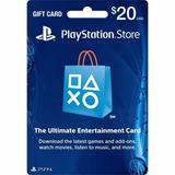 Tarjeta Psn Play Station Network Store Gift Card 20 Dolares