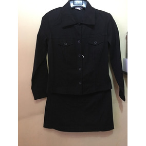 Conjunto De Saco Y Falda Negro Envío Gratis