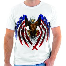 Camiseta Camisa Blusa Águia Azul Estados Unidos Simbolo 01