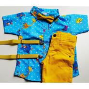 Conjunto Temático Galinha Pintadinha Azul E Amarelo Luxo