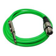 Cable Plug A Canon Xlr Hembra 2 Mts Verde Fluo Hamc