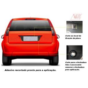 Adesivo Fiesta Hatch Rocam Fundo Placa 2003 2013 Acessórios