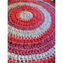 Alfombra Crochet Con Material Trapillo Totora Tira De Tela-