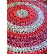 Alfombra Crochet Con Material Trapillo Atotora Tira De Tela-