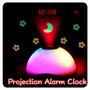 Relógio Despertador Projetor De Horas E Figuras Animadas